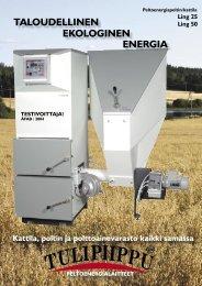TALOUDELLINEN EKOLOGINEN ENERGIA - Tulipiippu