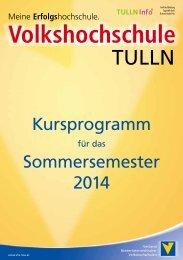 Kursprogramm SS 2014