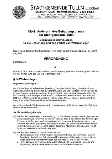 Bebauungsbestimmungen für die Gestaltung und das Verbot von ...