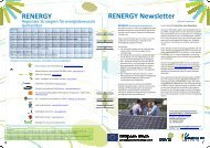 2. RENERGY-Newsletter, Mai 2013