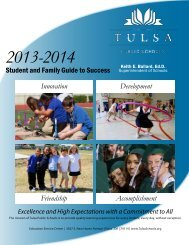 Student and Family Guide to Success - Tulsa Public Schools