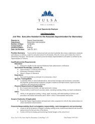 Executive Assistant to the Associate Superintendent for Elementary