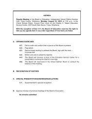 Agenda - Tulsa Public Schools
