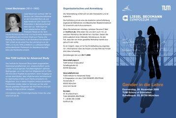 Gender in die Lehre - TUM-IAS