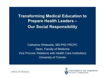 Transforming Medical Education to Prepare Health Leaders - TUM-IAS