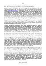 Tumorzentum München: Empfehlungen zu Mammakarzinomen