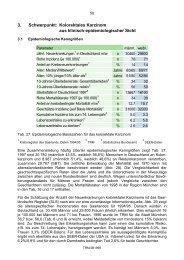 Schwerpunkt Kolorektales Karzinom - Tumorregister München
