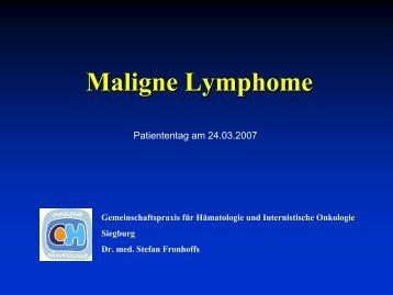 Maligne Lymphome - Tumorzentrum Bonn eV