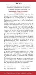 Einladung Samstag, den 9. Juli 2011 - Tumorzentrum Bonn eV - Page 2