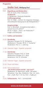 Einladung Samstag, den 9. Juli 2011 - Tumorzentrum Bonn eV - Page 3