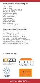 Einladung Samstag, den 9. Juli 2011 - Tumorzentrum Bonn eV - Page 7
