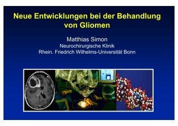 Neue Entwicklungen bei der Behandlung von Gliomen