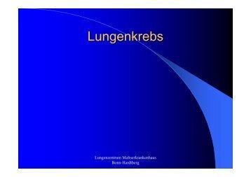Lungenkrebs - Tumorzentrum Bonn eV