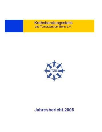 Jahresbericht 2006 - Tumorzentrum Bonn eV