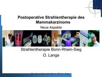 Bestrahlung der parasternalen Lymphknoten - Tumorzentrum Bonn eV