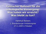 Reiners_Gesundheitsreform und politische Rahmenbedingungen
