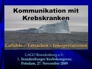 Kommunikation mit Krebskranken - Tumorzentrum Land Brandenburg
