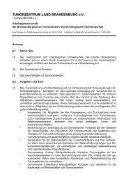 Satzung TZBB_Stand MV vom 13.05.2008 - Tumorzentrum Land ...
