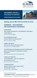 Programm der Veranstaltung - Tumorzentrum Erlangen-Nürnberg