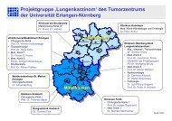 Projektgruppe - Tumorzentrum - Universitätsklinikum Erlangen