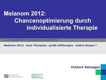 Chancenoptimierung durch individualisierte ... - Tumorzentrum