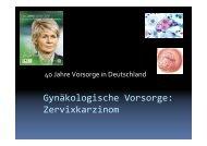 Zervix - Tumorzentrum