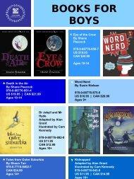 BOOKS FOR BOYS - Tundra Books