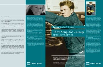 Three Songs for Courage - Tundra Books