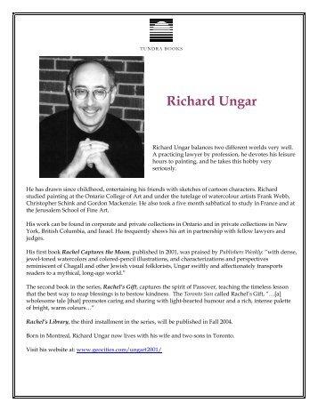 Richard Ungar - Tundra Books