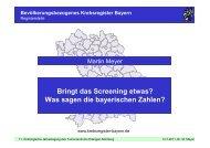 Bringt das Screening etwas? Was sagen die bayerischen Zahlen?