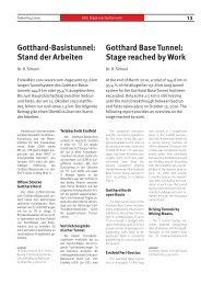 Gotthard-Basistunnel: Stand der Arbeiten Gotthard Base Tunnel ...