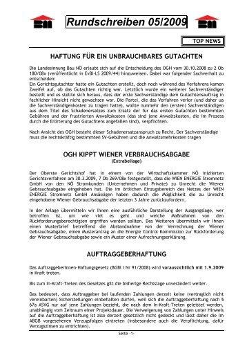 Rundschreiben 05/2009 - Landesinnung Bau