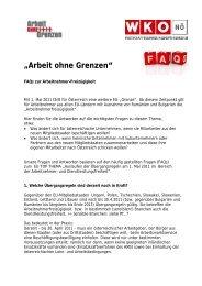 Arbeit ohne Grenzen - Wirtschaftskammer Österreich