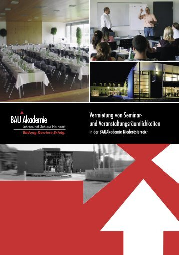 Folder Seminarzentrum - Landesinnung Bau