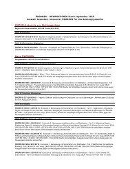 ÖNORMEN – INFORMATIONEN Stand September 2010 Auswahl ...