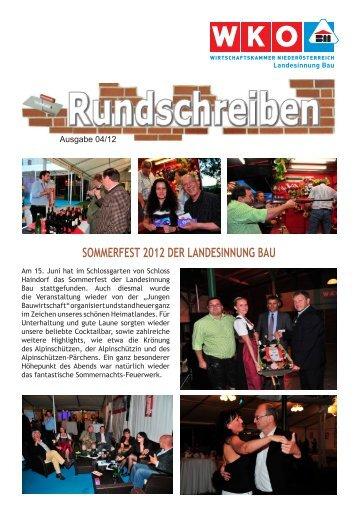 Rundschreiben 04/2012 - Landesinnung Bau