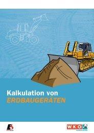 Kalkulation von Erdbaugeräten 2009 - Download Broschüre