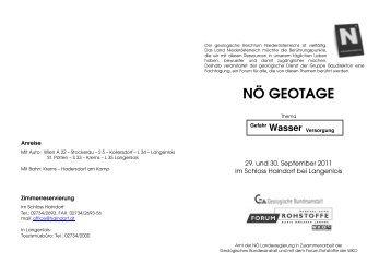 Geotage - Programm u. Anmeldung - Landesinnung Bau