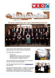 Rundschreiben 01/2013 - Landesinnung Bau