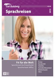 Gesamtbroschüre 2013 - Carl Duisberg Sprachreisen