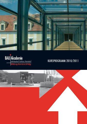 Kursprogramm 2010/2011 - Landesinnung Bau