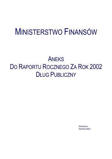 MINISTERSTWO FINANSÌW - Ministerstwo Finansów