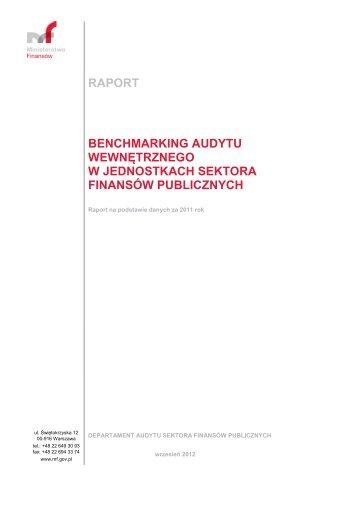 raport benchmarking audytu wewnętrznego w jednostkach sektora ...