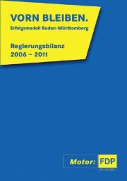 (1) Regierungsbilanz 2006-2011 - FDP Baden-Württemberg