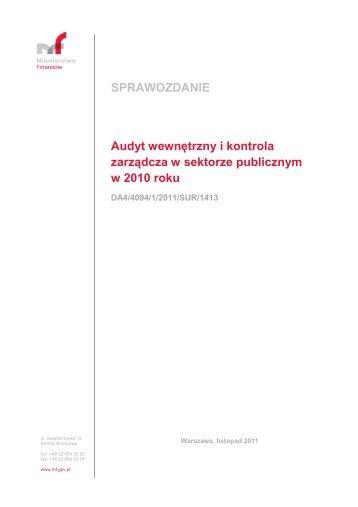 sprawozdanie - Ministerstwo Finansów