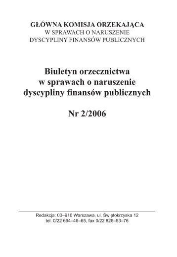 Numer 2 z 2006 r. - Ministerstwo Finansów