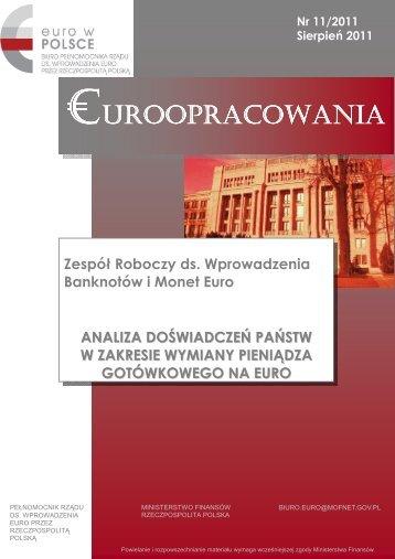 Analiza doświadczeń państw w zakresie - Ministerstwo Finansów