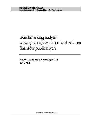 """Raport """"Benchmarking audytu wewnętrznego w jednostkach sektora ..."""