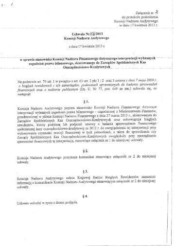Uchwała Komisji Nadzoru Audytowego z załącznikami