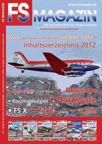 Jahresinhaltsverzeichnis 2012 - FS Magazin